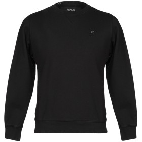 《期間限定 セール開催中》REPLAY メンズ スウェットシャツ ブラック S コットン 100%