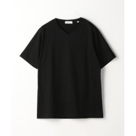 (TOMORROWLAND/トゥモローランド)スヴィンジャージー VネックTシャツ/メンズ 19ブラック 送料無料