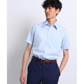 TAKEO KIKUCHI(タケオキクチ) 【WEB限定】[イージーケア 半袖]ブルービジネスシャツ