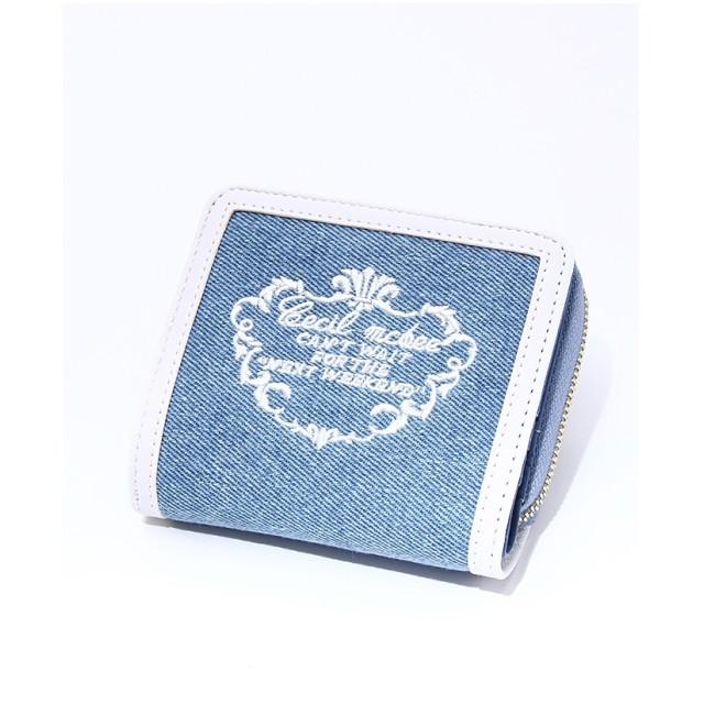 CECIL McBEE ロゴ刺繍ミニウォレット ライトブルー