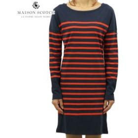 メゾンスコッチ MAISON SCOTCH 正規販売店 レディース ワンピース BRETON STRIPED SWEAT DRESS DC 140908 18 41309 COMBO B