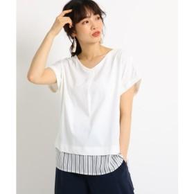 THE SHOP TK / ザ ショップ ティーケー フェイクレイヤードTシャツ