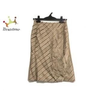 ランバンコレクション スカート サイズ36 S レディース 美品 ライトブラウン リボン スペシャル特価 20190830