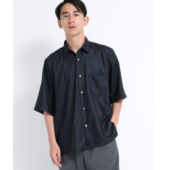 tk.TAKEO KIKUCHI / ティーケー タケオキクチ マイクロスパンビッグシルエット半袖シャツ