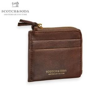 スコッチアンドソーダ SCOTCH&SODA 正規販売店 メンズ レディース 財布 コインケース LEATHER COIN WALLET CARD POCKETS 149207 0007