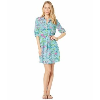 リリーピュリッツァー レディース ワンピース トップス Lillith Tunic Dress Bali Blue Sway This Way