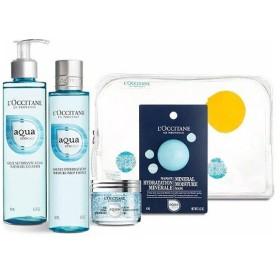 数量限定L'OCCITANE(ロクシタン) アクアレオティエ コンプリート(洗顔料、化粧水、保湿クリーム、美容マスク)