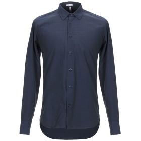 《期間限定セール開催中!》+ - UGUALE メンズ シャツ ダークブルー S コットン 100%
