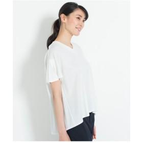 自由区 【接触冷感】MICRO MOCKRODY カットソー Tシャツ・カットソー,ホワイト系