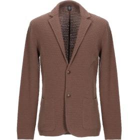 《期間限定セール開催中!》ELEVENTY メンズ テーラードジャケット ブラウン S ウール 70% / ナイロン 30%