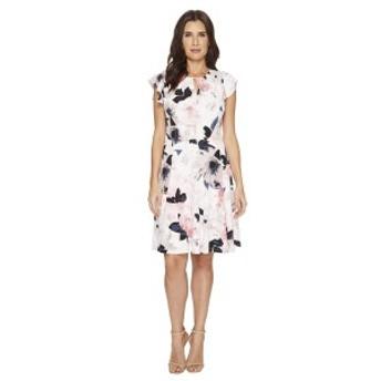 イヴァンカ・トランプ レディース ワンピース トップス Matte Jersey Flutter Sleeve Dress Ivory/Blush