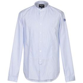 《セール開催中》BLAUER メンズ シャツ アジュールブルー XXL コットン 100%