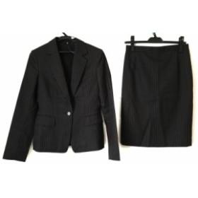 アンタイトル UNTITLED スカートスーツ サイズ2 M レディース ダークグレー×ピンク 3点セット/パンツ/ストライプ【中古】