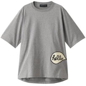 MADISONBLUE マディソンブルー HANAプリント オーバーサイズTシャツ グレー