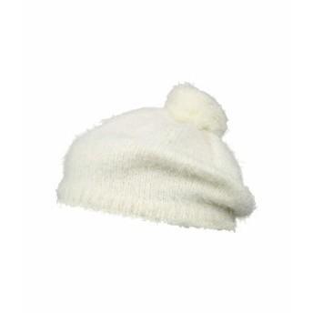サンディエゴハット レディース 帽子 アクセサリー KNH3520 Eyelash Knit Beret with Pom Ivory