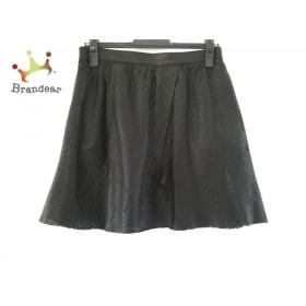 スタニングルアー STUNNING LURE スカート サイズ38 M レディース 黒 レザー/パンチング   スペシャル特価 20190917