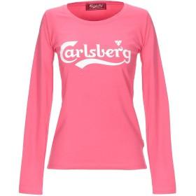 《セール開催中》CARLSBERG レディース T シャツ ピンク XS コットン 92% / ポリウレタン 8%