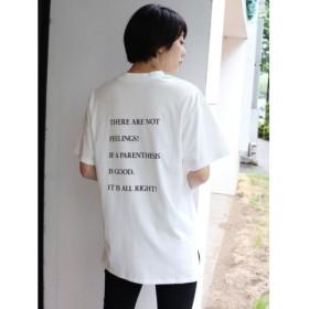 (MURUA/ムルーア)バックプリントオーバーTシャツ/レディース ホワイト