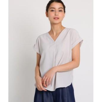 AG by aquagirl / エージー バイ アクアガール 【洗える】Vネックバックリングシャツブラウス