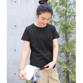 JOURNAL STANDARD DISCUS×JSライトワッフルTシャツ◆ ブラック フリー