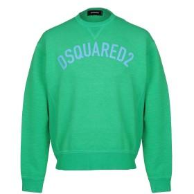 《期間限定 セール開催中》DSQUARED2 メンズ スウェットシャツ グリーン XS コットン 100% / ポリウレタン