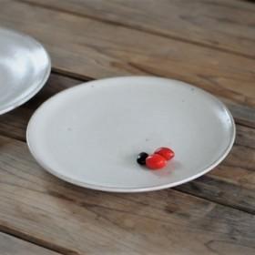白釉 6寸 平皿