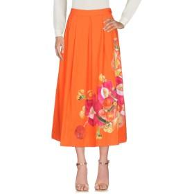 《期間限定 セール開催中》ISOLDA レディース 7分丈スカート オレンジ L コットン 98% / ポリウレタン 2%