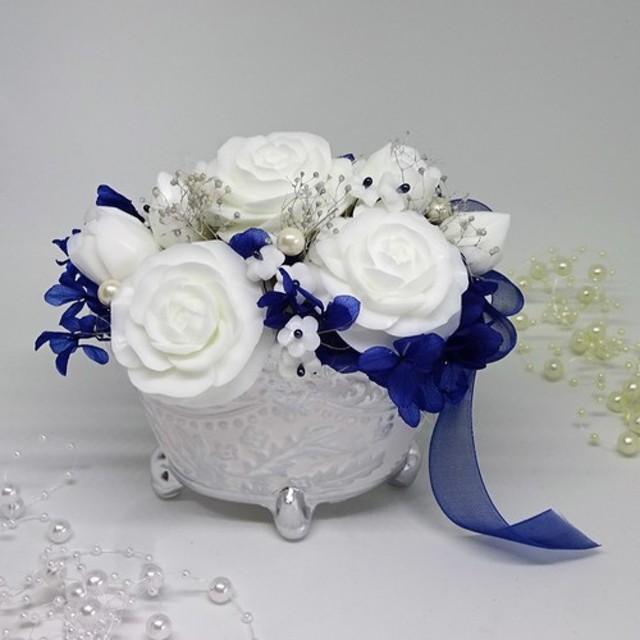 「Creema限定」石鹸彫刻 清楚な薔薇のアレンジメント