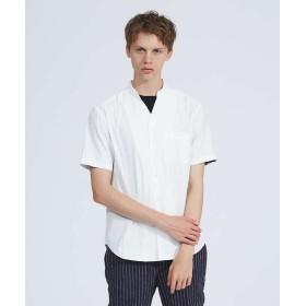 アバハウス Vネックシャツ メンズ ホワイト 46 【ABAHOUSE】