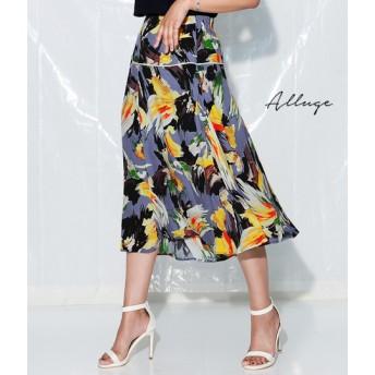 【セール開催中】ANAP(アナップ)ボタニカルアシンメトリースカート