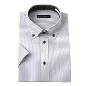 衿汚れが目立ちにくい半袖デザインワイシャツ(ボタンダウン) (ワイシャツ)