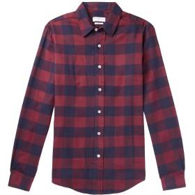《セール開催中》PRESIDENT'S メンズ シャツ ボルドー S コットン 100%