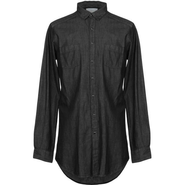 《期間限定セール開催中!》CHOICE NICOLA PELINGA メンズ デニムシャツ ブラック XL コットン 100%