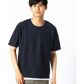 コムサイズム COMME CA ISM 【セットアイテム】 Tシャツ×タンクトップセット (ネイビー)