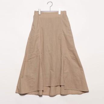 スタイルブロック STYLEBLOCK スラブガーゼスリットマーメイドスカート (ベージュ)