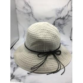 つば広 折りたたみ 携帯ハット 紫外線カット 旅行用 帽子 日よけ ナチュラル 紫外線対策 熱中症対策 ライトベージュ ストライプ