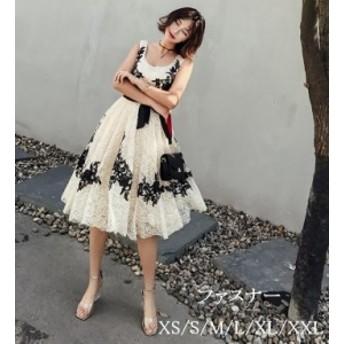 2019新作 ミディアムドレス 30代40代 結婚式 同窓会 お呼ばれドレス フォーマルドレス 演出会 ウエディングドレス 大きいサイズ Aライン