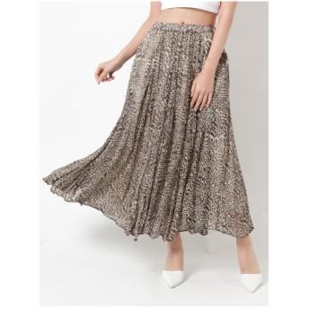 ジェイダ GYDA originalleopardロングスカート (ブラウン)