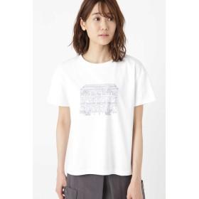 HUMAN WOMAN イラストプリントTシャツ その他 カットソー,シロ×ブルーPT1