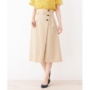 grove(グローブ) ヴィンテージボタン ラップ風スカート
