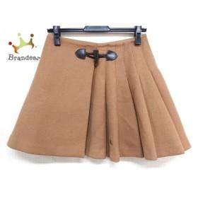 バーバリーブルーレーベル 巻きスカート サイズ38 M レディース 美品 ライトブラウン   スペシャル特価 20190901
