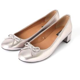 【公式/NATURAL BEAUTY BASIC】バレエパンプス/女性/靴・パンプス/シルバー/サイズ:23.0/(甲皮の使用材)合成皮革(底材の種類)合成底
