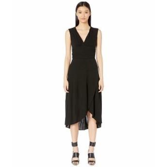 イエガルズロール レディース ワンピース トップス Sleeveless V-Neck Matte Jersey Dress Black