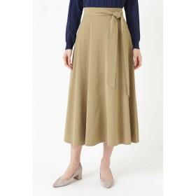 HUMAN WOMAN 《arrive paris》ストレッチオックス フレアスカート ひざ丈スカート,ベージュ