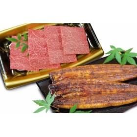 薩摩牛霜降り焼肉200g×うなぎ蒲焼1尾セット(同梱発送)