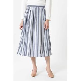 NATURAL BEAUTY ◆ランダムストライプスカート ひざ丈スカート,ブルー