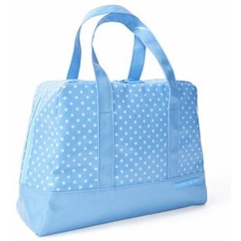 セミボストン(プールバッグ) 水玉(水色地に白ドット) N2903100 ビニールバッグ/スイミングバッグ/アウトドア/子供