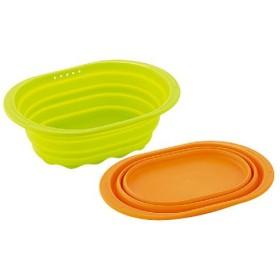 小判型洗い桶(シリコーン) - セシール ■カラー:グリーン オレンジ