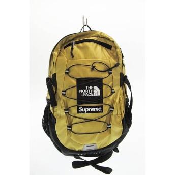 シュプリーム SUPREME × ノースフェイス THE NORTH FACE 18SS Metallic Borealis Backpack メタリック バックパック リュック ゴールド中古▲190608 0140