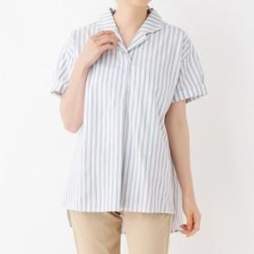 [マルイ]【セール】開襟ストライプスキッパーシャツ/シューラルー(レディス)(SHOOLARUE Ladies)